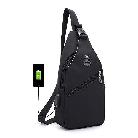 95dae5846699 Amazon.com: ZOUQILAI 2018 new outdoor leisure Oxford chest bag ...
