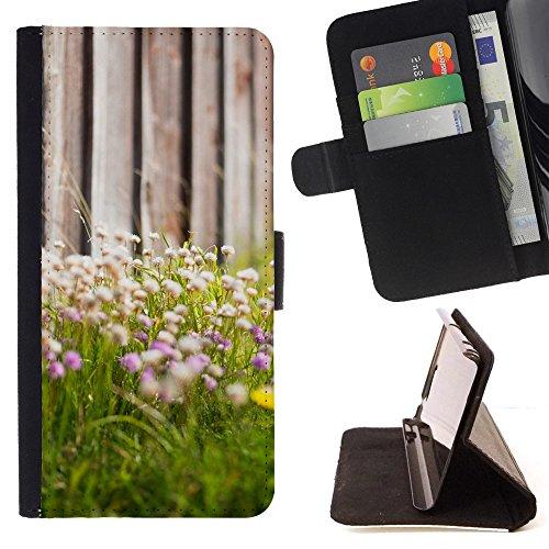 God Garden - FOR Apple Iphone 6 - Dandelion - Glitter Teal Purple Sparkling Watercolor Personalized Design Custom Style PU Leather Case Wallet Fli