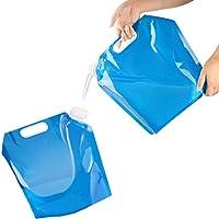 ZHOUZHOU 2Pack Bidón de Agua Plegable Portátil,10 L Bolsa de Agua Potable Coche de contenedores,Recipiente de Agua…