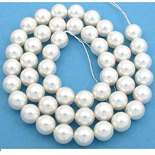 50 White Swarovski Crystal Pearl Beads Jewelry 10mm (Beads Crystals 50 Swarovski)
