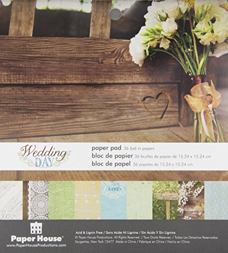 Paper House Productions PP-0626E Wedding Day Paper Pads, 6