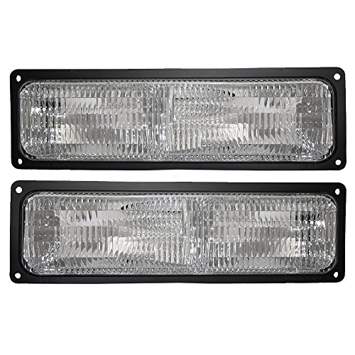 Pair Set Park Signal Front Marker Lights Lamps Replacement for 94-02 GM SUV Pickup Truck w/Composite Headlamps 5976837 5976838 - Blazer Parking Signal Light