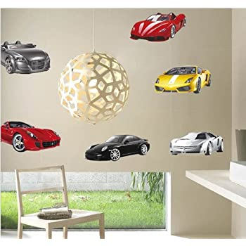 Cool Luxury Sports Cars Collection - Action Excitement and Energy Peel and Stick Wall & Amazon.com: Cool Luxury Sports Cars Collection - Action Excitement ...