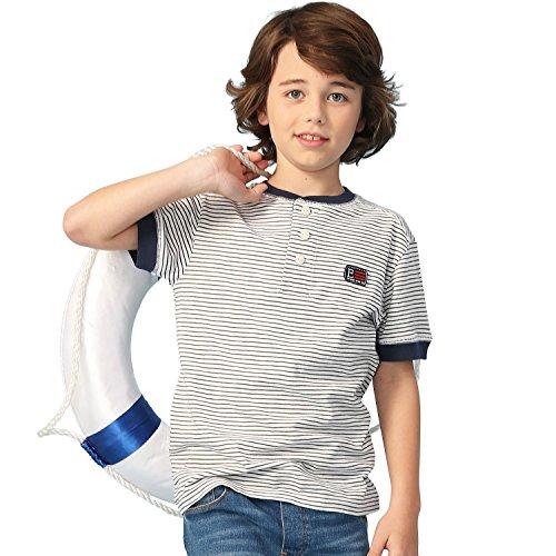 Leo&Lily Big boys'Kids Short Sleeves Pin Stripes Jersey Cardigan T-Shirts (Navy, 14)