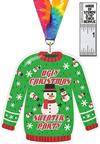 醜いセーターパーティーcolorix-m XLアクリルMedal