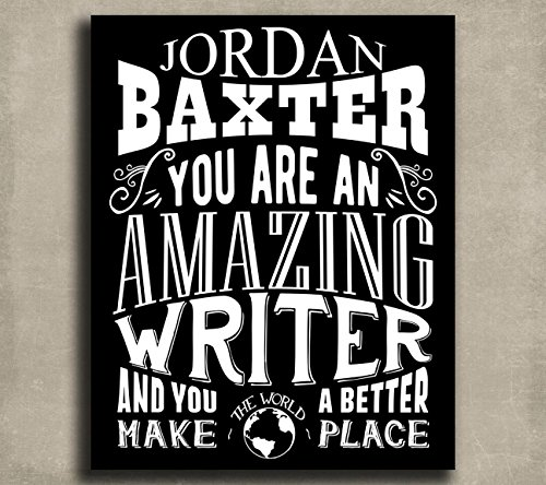 Amazing Writer Custom Plaque Tin Sign Gift For Author Screenplay Writer Theater Actor Director Typography Personalized Metal Art Print #1213