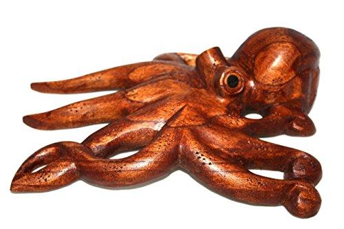 TikiMaster Hawaiian Octopus Tako''HE'E'' - Hand Carved 10'' | #non0520 by TikiMaster