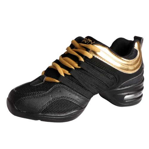 Black Ballroom Gold and Sneakers Trainers Men YFCH Dance Dance Performance Boost Modern Shoes Sneakers Jazz Women's Sports qx8naZRw4