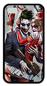 iPhone 4S Cases & Covers -Joker and Harley Quinn Custom TPU Soft Case Cover Protector for iPhone 4/4S Black New Year gift