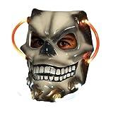 Rubie's Alien Costume Light-Up Skull Mask, Gray, One Size