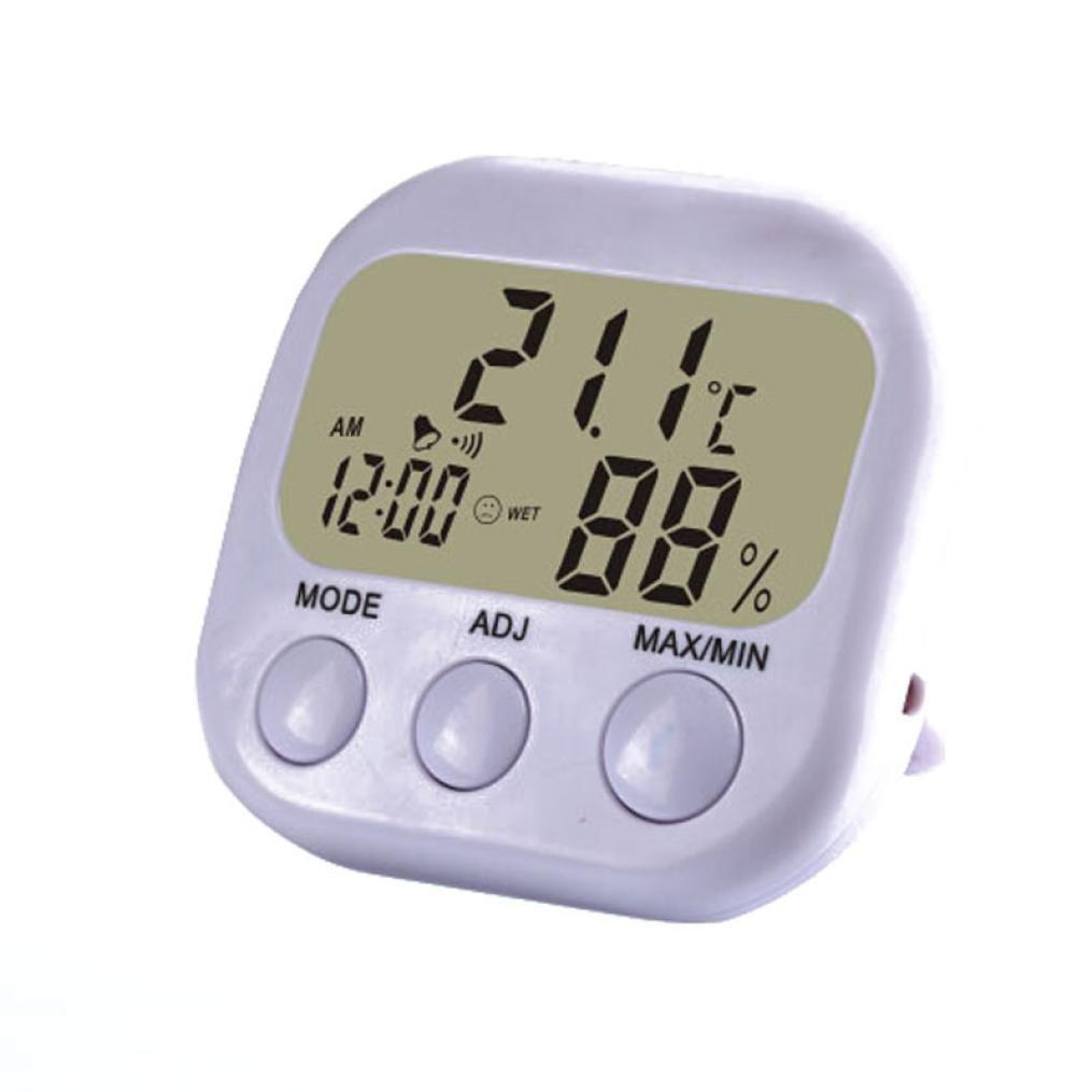 HP95(TM) Home Digital LCD Thermometer Humidity Temperature Hygrometer Clock (E) (E)