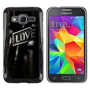 // PHONE CASE GIFT // Duro Estuche protector PC Cáscara Plástico Carcasa Funda Hard Protective Case for Samsung Galaxy Core Prime / GRITTY LOVE /