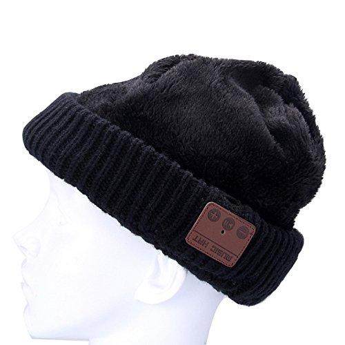 176061e2865e Wewoo Bonnet Connecté Noir pour Garçon et Fille Adultes Ondulé Texturé  Tricoté Casque Bluetooth Chaud Hiver Beanie Hat avec Micro  Amazon.fr   High-tech
