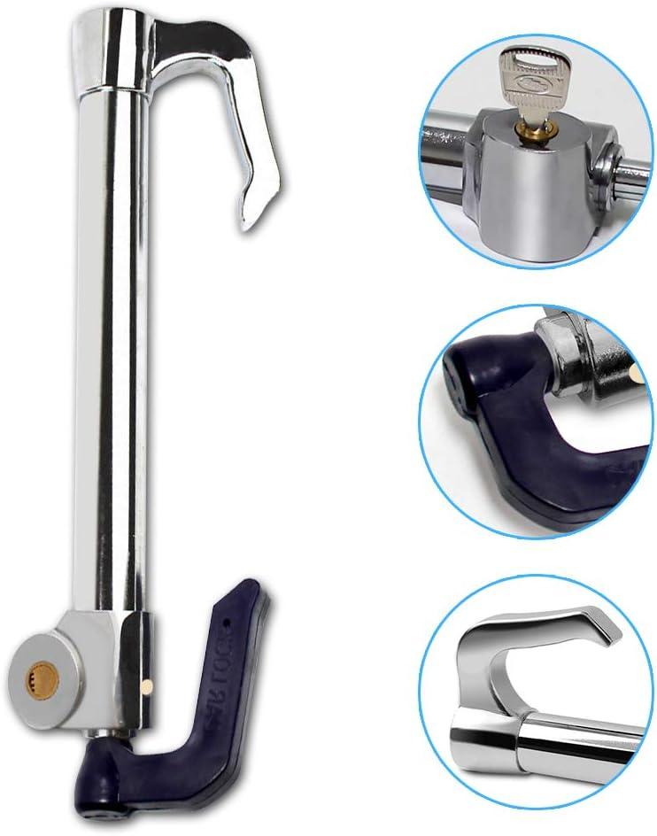 High Security Wisamic Universal Steering Wheel Brake Lock with Adjustable Length Double Protection Extendable Steering Wheel /& Clutch Brake Lock