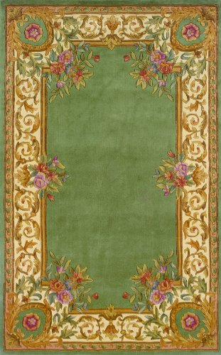 Traditional Hand Tufted Sage (Momeni Rugs HARMOHA-07SAG2030 Harmony Collection, Traditional Area Rug, 2' x 3', Sage)