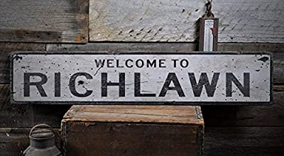 Welcome to RICHLAWN - Custom RICHLAWN, KENTUCKY US City, State Distressed Wooden Sign
