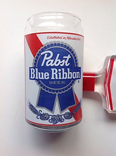 Pabst Blue Ribbon PBR Retro Can Glass Beer Glass