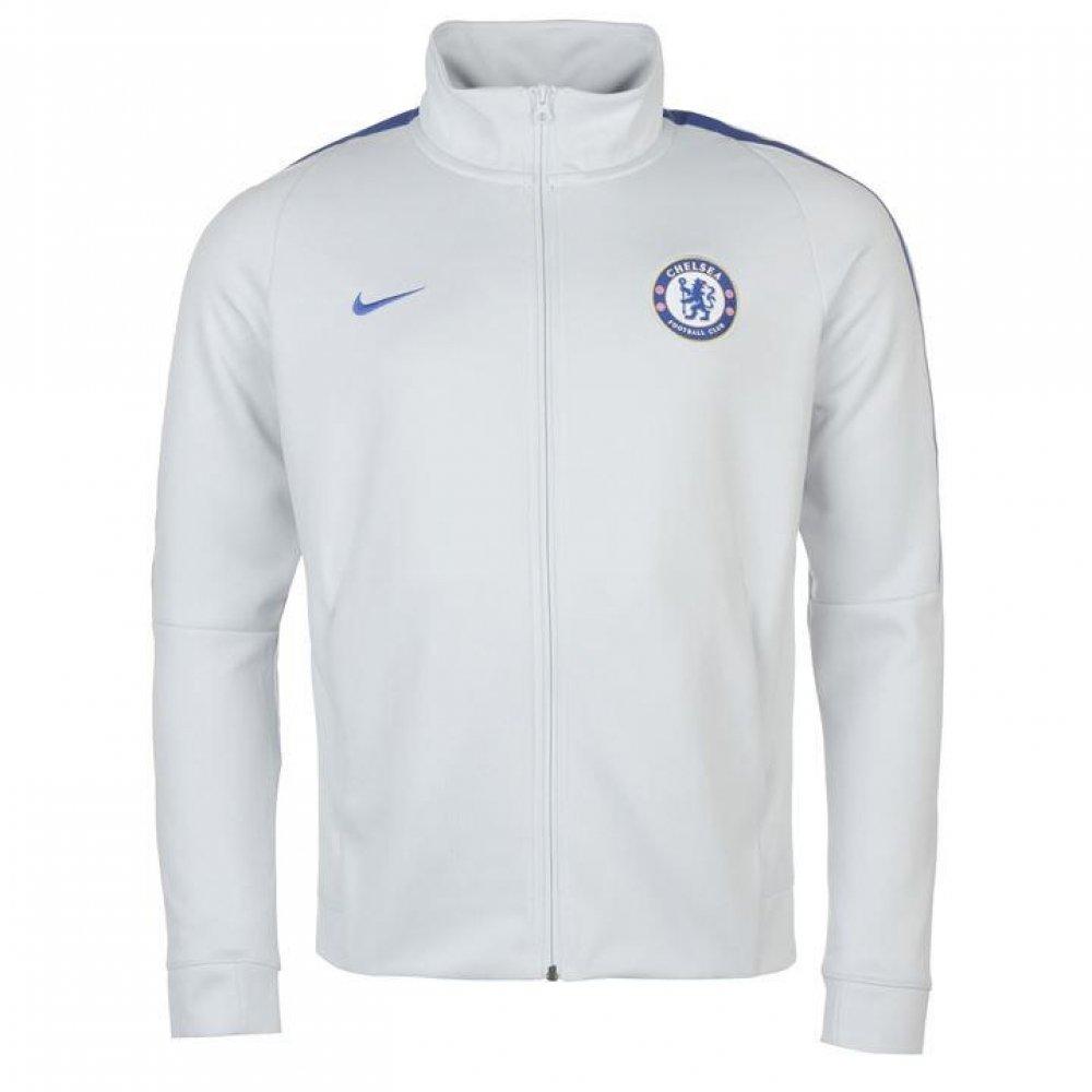 Nike FC Chelsea Franchise Trainingsjacke Chaqueta, Hombre, Blanco ...