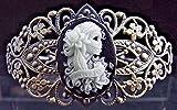 Resplandor_en_la_oscuridad_Vintage_Style_calaveras_de_azúcar_Gitana_Cameo_Pulsera_de_filigrana #NUN Bracelet