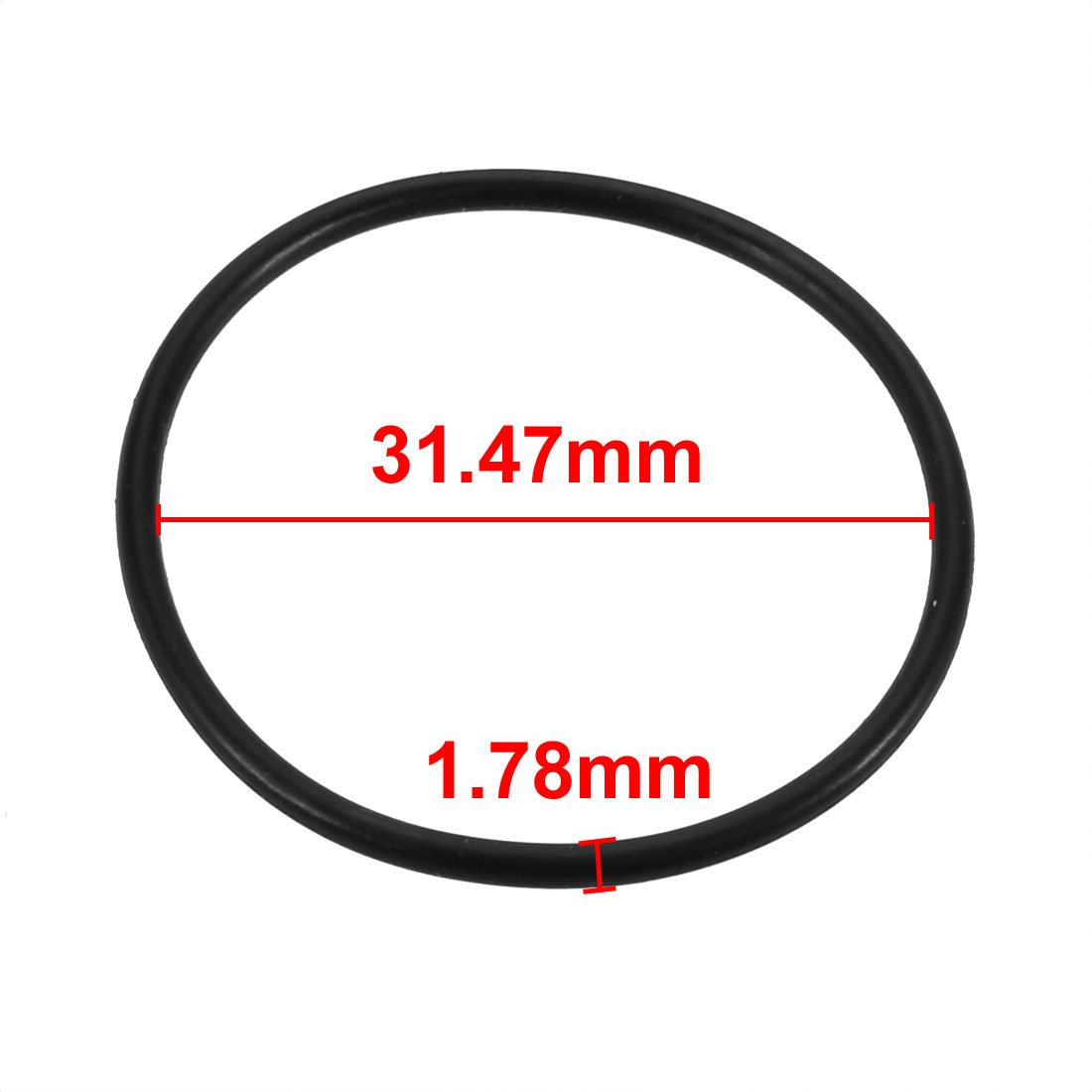 schwarz Nitril Butadien Gummi NBR O-Ring 31.47mm Inner Dmr sourcing map 20Stk 1.78mm Breite