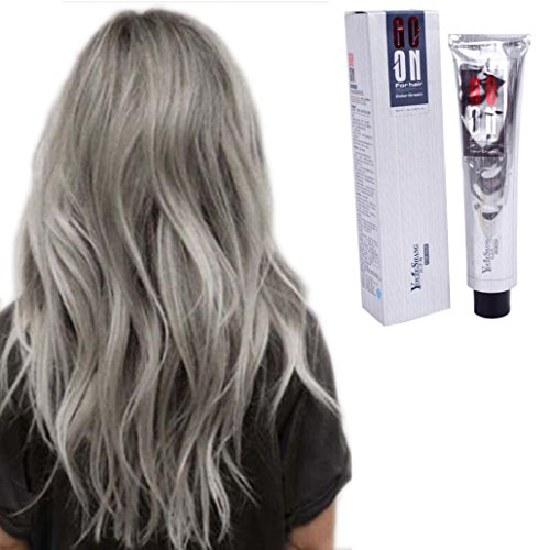 TONSEE 100ML Fashion Permanent Punk Hair Dye Light Gray Silver Color Cream (Light Gray)