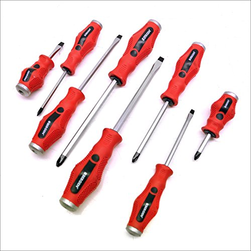 8pc Go-through screwdriver set ( flat and Philips ) by BERGEN AT117 ()