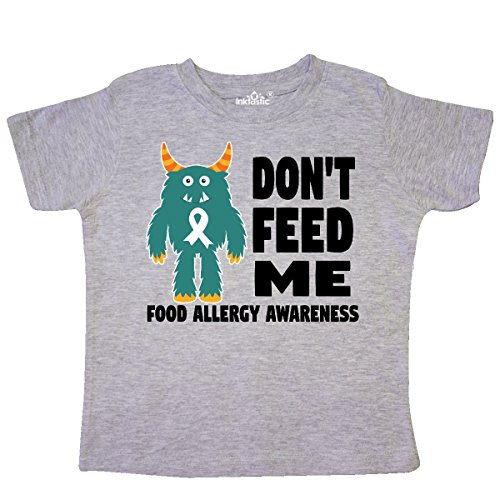 inktastic - Dont Feed Me with Monster Toddler T-Shirt 5/6 Heather Grey 29daf