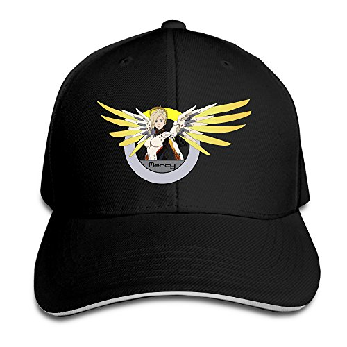 BanBang Games Overwatch Mercy Adjustable Outdoor Sandwich Peaked Caps Hats For Unisex