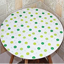GDF Wipe Clean PVC Vinyl Round Tablecloth Coffee Table Table Mat Plastic Soft Glass (all Sizes, Two Colors Optional) ( Color : A , Size : 60*60cm )