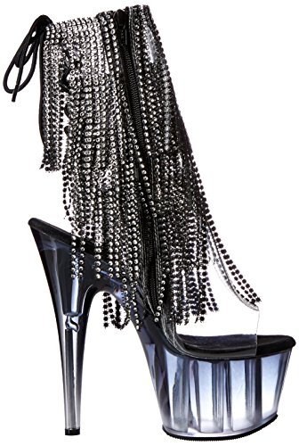 Pleaser ADORE-1017RSFT - Clear/Black/Black