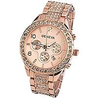 Reloj de pulsera de lujo para mujer de Ginebra, unisex, elegante y de cuarzo.