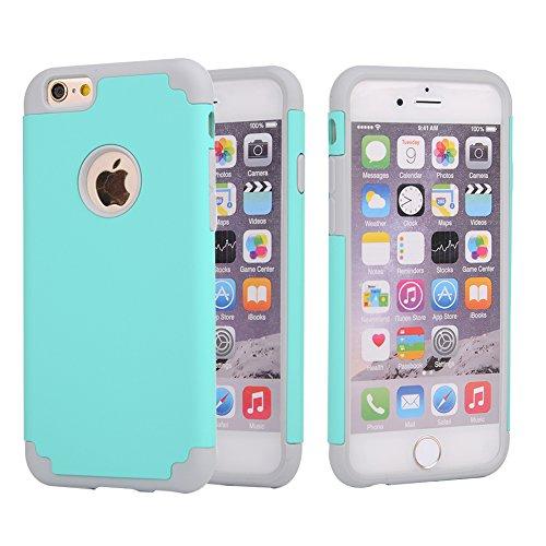 iPhone 6S Plus funda (5.5inch), iPhone 6Plus funda, rosepark (TM) Slim Slick Armor híbrido de doble capa a prueba de...