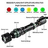 Flashlights,800 Lumen Handheld Light Ultra Bright Tactical Light Torch 5-Mode,Tactical Flashlights Led