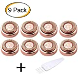 Facial Hair Remover Replacement Heads for Electric or Battery Hair Remover for Lip,Chin,Cheeks and Sideburns  18K Gold-Plated Rose Gold (Rose Gold)