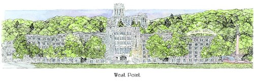 West Point Military Academy ''Army'' - Collegiate Sculptured Ornament by Sculptured Watercolor Ornaments