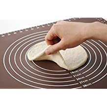 HANBUN Pastry Mat Extra Large Silicone Pastry Rolling Mat with Measurements Pastry Rolling Mat, Reusable Non-Stick 19.6x16.1 Inch CA-HK031
