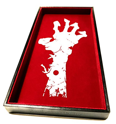 Hand of the Zombie Dice Tray - 12'' x 6'' - For Any Dice Or Board Games, Tabletop RPGs like D&D (DnD), Pathfinder Roleplaying Game by Darksilver Forge