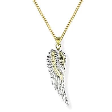 Engelflügel Anhänger Schutzengel Engels Flügel mit Kette Echt Silber 925 Doppel