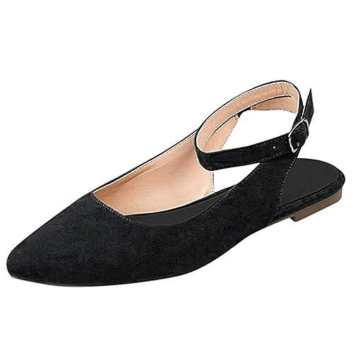 b8b1f30595f73 Amazon.com | HHei_K Women Flat Pointed Toe Buckle Sandals Casual ...