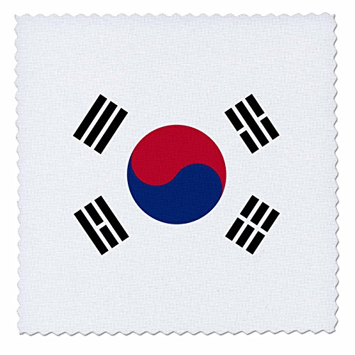 Price comparison product image 3dRose qs_158435_1 Flag of South Korea Korean White Red Blue Taegeuk Circle Black Trigrams Taiji Yinyang Taegeukgi Quilt Square, 10 by 10-Inch