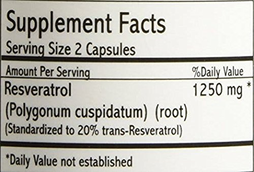 4 Pack - Resveratrol Gold 1250 - Maximum Potency 1250 Mg by YouLookLight-Canada (Image #3)