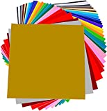 Permanent Adhesive Backed Vinyl 40 SHEETS - PrimeCuts USA - 40 SHEETS 12'' x 12'' - 40 Assorted Color Sheets for Cricut, Silhouette Cameo, and Other Craft Cutters