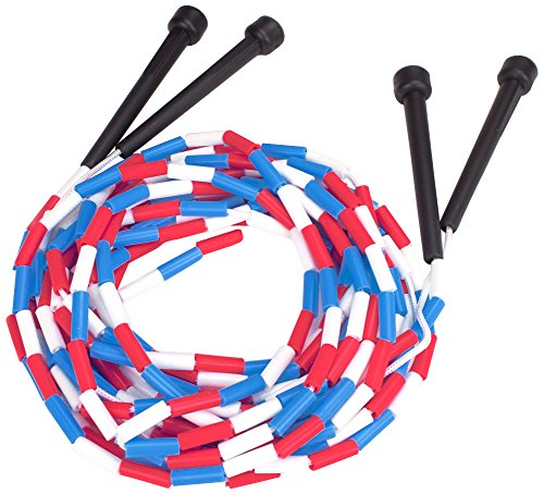 K-Roo Sports 16-Feet Double Dutch Jump Ropes with Plastic Segmentation