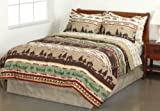 Fishing, Cabin, Lodge, Canoe Full Comforter Set (8 Piece Bed In A Bag)