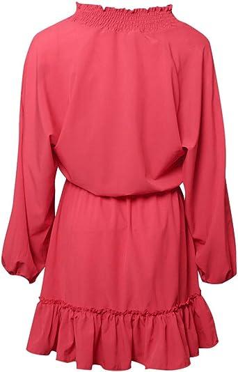 Leey damska sukienka z długim rękawem Trapèze tunika sukienka koktajlowa sukienka na imprezę sukienka na plażę sukienka letnia sukienka na czas wolny dekolt w kształcie V plisowana sukienka maxi