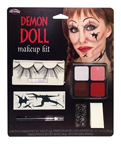 Broken Doll and/or Zombie Doll Face Makeup Kit (Demon Doll) -