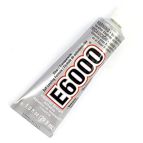 29.5ML E6000 CLEAR GLUE Adhesive Industrial Strength-Jewellery-Rhinestones Crystals - BLING YOUR SHOES WITH THIS GLUE -Also great for Decorating Ceramics Bags Purses, Scrapbooks & anything you want to add Crystals too. Does Not Apply