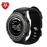Bluetooth Mens Smartwatch with Heart Rate Blood Pressure Sleep Monitor Pedometer, Touchscreen Round Face Smart Watch Sports Watches Compatible with Android iOS