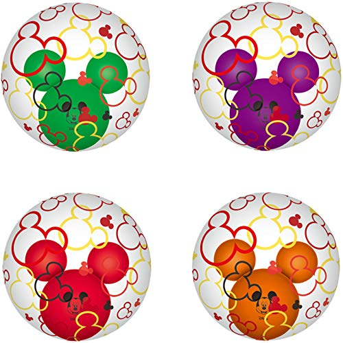 4PCS Mickey Mouse Ear Balloons Party Decoration Balloons Rotate Balloons for Baby Party Baby Shower Mickey Mouse Theme Party Supplies ()