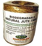 Librett Biodegradable Natural Jute Twine, 225 FT - 8oz - 3 Ply